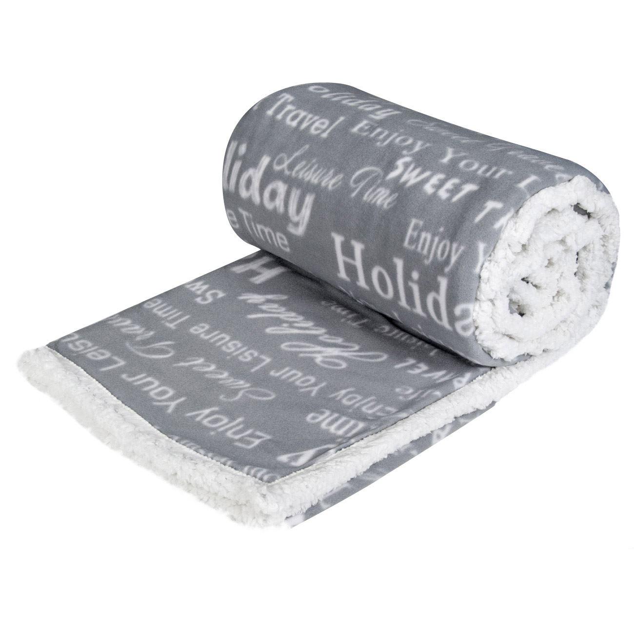 Szőrme béléses polár takaró szürke 150 200 cm empty e9b4bba96b